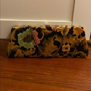 1960s floral clutch